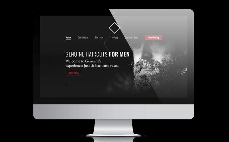 Diseño página web barbería, Julia Menéndez diseño web freelance