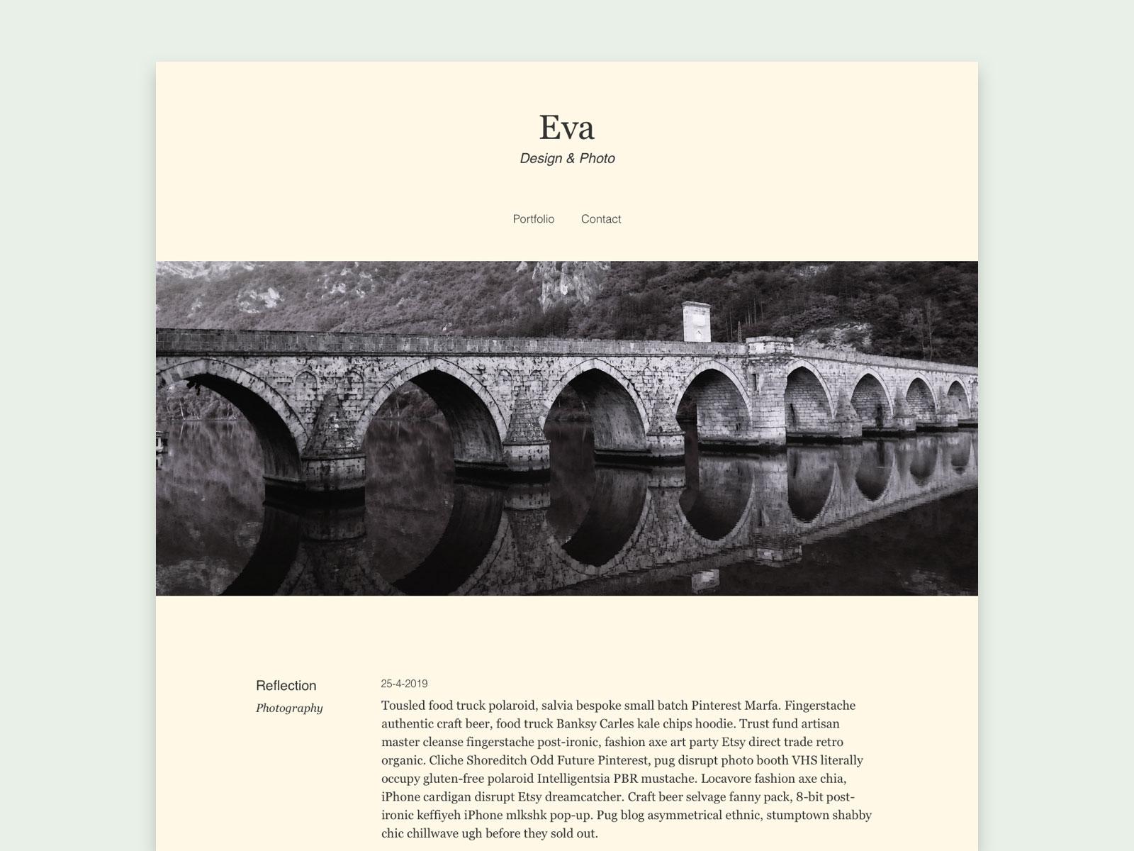 Detalle de página diseñada con el tema Eva blog, Julia Menéndez diseño y desarrollo tema de WordPress
