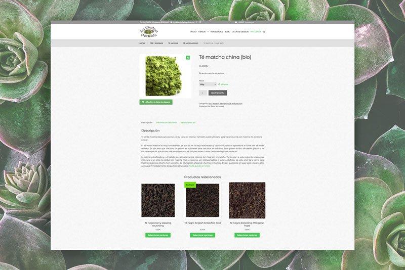 Página producto La Ciudad Perdida, Julia Menéndez desarrollo de tienda online en WordPress