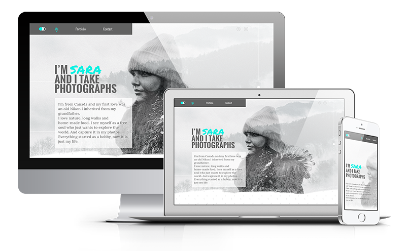 Portfolio para fotógrafos, Julia Menéndez diseño web freelance